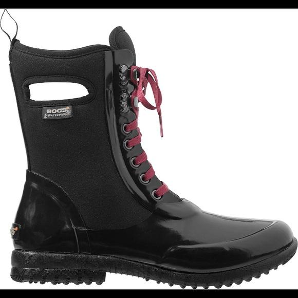 f33ac13b94 Bogs Women's Sidney Lace Solid Boot Black